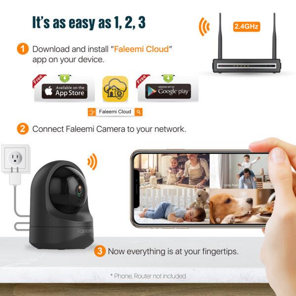 Faleemi FSC886 1080P HD Wireless Security Camera